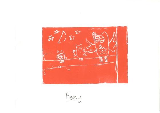 Owl Family - Peony Fong